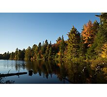 Fall Forest Lake - Reflection Tranquility Photographic Print