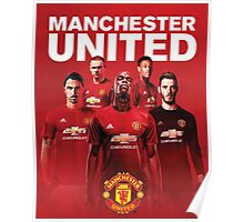 manchester united fc red devils 2017 Poster