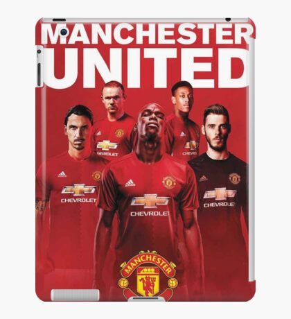 manchester united fc red devils 2017 iPad Case/Skin