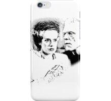 Frankenstein's Monster and Bride of Frankenstein. Spooky Halloween Digital Engraving Image iPhone Case/Skin