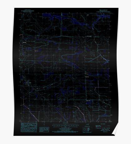 USGS TOPO Map Arkansas AR Moro 259130 1984 24000 Inverted Poster