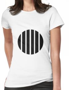 Circle Lines Womens Fitted T-Shirt