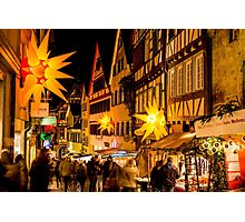 Tübingen at Christmas 3 Photographic Print