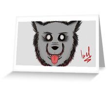 Hungry Wolfz Greeting Card