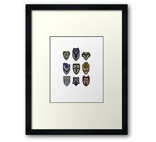 Skyrim Hold Logos Framed Print
