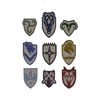 Skyrim Hold Logos Sticker