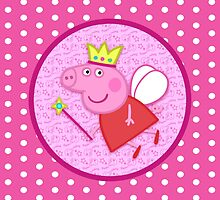 Peppa the Fairy Princess Throw Pillow by Russ Jericho