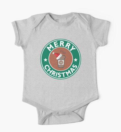 Festive Coffee Logo One Piece - Short Sleeve