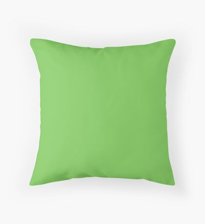 Green Flash | Pantone Fashion Color Spring : Summer 2016 | Solid Color Throw Pillow