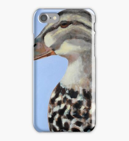 """The Mr + Mrs. Duck, oil on wood, 24x24"""", oil on wood, 2016 iPhone Case/Skin"""