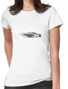 Speed car silhouette Womens Fitted T-Shirt