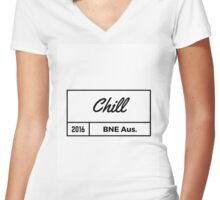 Chill 2016 Women's Fitted V-Neck T-Shirt
