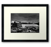 WINTER LOCH Framed Print