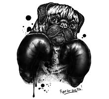 Fight For Pug Life Photographic Print