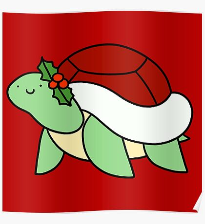 Holly Turtle Poster