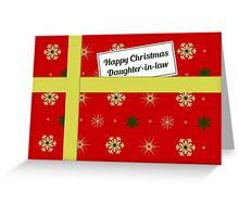 Daughter-in-law red Christmas parcel card Greeting Card