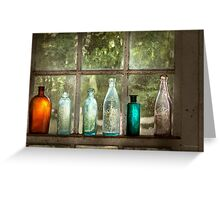 Hobby - Bottles - It's all about the glass Greeting Card
