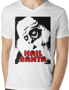 HAIL SANTA Mens V-Neck T-Shirt