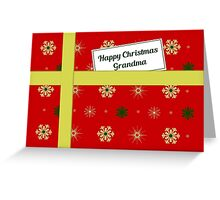 Grandma red Christmas parcel card Greeting Card