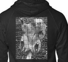 Caged Golden Lion Tamarin Zipped Hoodie