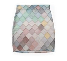 Pastel Scales  Mini Skirt