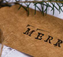 plain xmas tags Merry Sticker