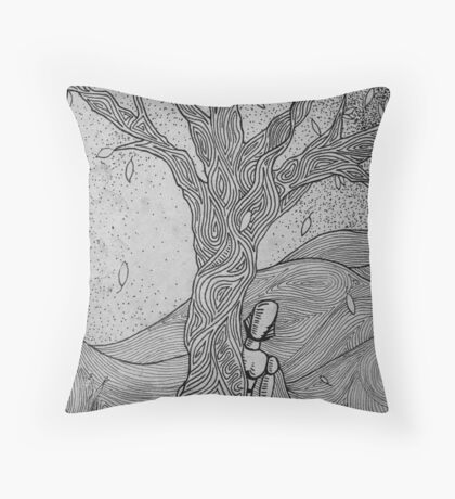 Peek-a-Boo (Destruction of Tomorrow Series) Throw Pillow