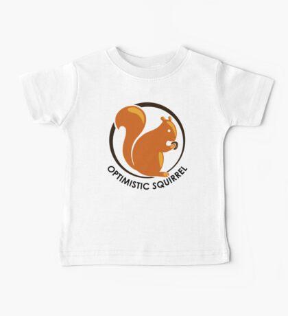 LIMITED EDITION: Original Brown Optimistic Squirrel Baby Tee