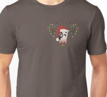 Horned Cow Christmas Edition Unisex T-Shirt