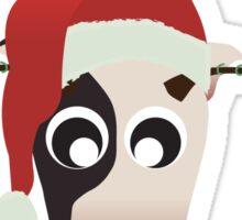 Horned Cow Christmas Edition Sticker