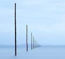 Holy Island Causeway Marker Posts by davidpreston