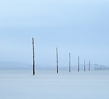 Holy Island Causeway Marker Posts by davidpreston