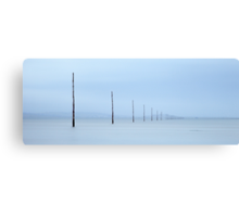 Holy Island Causeway Marker Posts Canvas Print