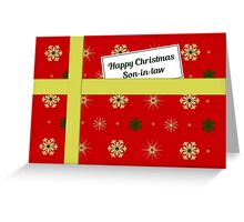 Son-in-law red Christmas parcel card Greeting Card