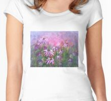 Purple Echinacea Women's Fitted Scoop T-Shirt