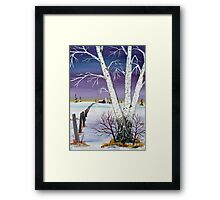 Homestead Fenceline Framed Print