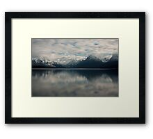 Mountains and Water Framed Print