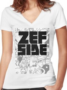 Graffiti Design Women's Fitted V-Neck T-Shirt