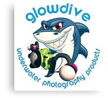 Shark Glowdive Canvas Print