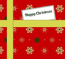 Red Christmas parcel card by julesdesigns