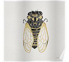 Cicada – Black & Gold Poster