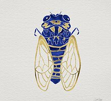 Cicada – Navy & Gold by Cat Coquillette