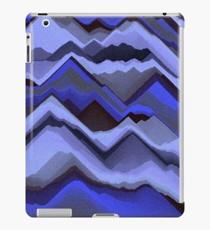 Sand - Black/Blue Patterned iPad Case/Skin