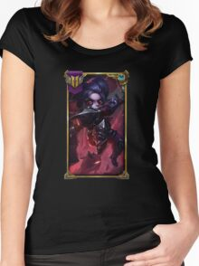 Noxus Poppy (With Challenger border + Mastery 6 ) Women's Fitted Scoop T-Shirt