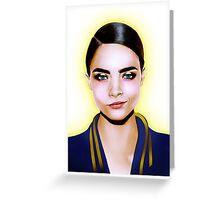 Fashion Illustration - Cara Greeting Card