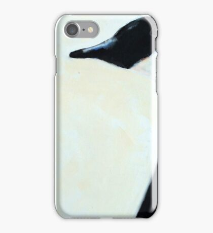 """Mr + Mrs. Canada Goose #2, 12x12"""", oil on wood, 2016 iPhone Case/Skin"""