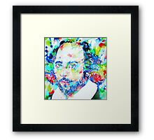 WILLIAM SHAKESPEARE - watercolor portrait Framed Print