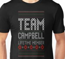 Team Campbell Lifetime Member Ugly Christmas T-Shirt Unisex T-Shirt