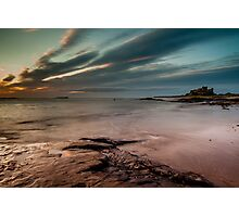 Sunrise at Bamburgh Photographic Print