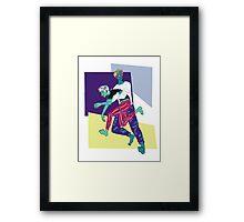 A Punk's Hero Framed Print